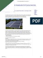Todo Sobre Paneles Fotovoltaicos