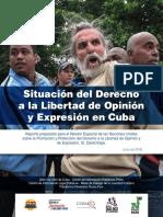 Situación del Derecho a la Libertad de Opinión y Expresión en Cuba