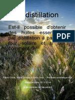 distillation par four solaire