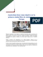 Amsterdam Tiene Como Objetivo Ser La Primera Ciudad Libre de Emisiones en Europa