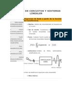 Análisis de Circuitos y Sistemas Lineales