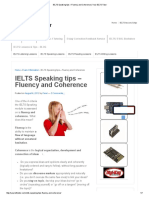 IELTS Speaking Tips – Fluency and Coherence _ Your IELTS Tutor