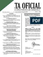 Gaceta Oficial Número 40.963 de la República de Venezuela, 10 de agosto de 2016