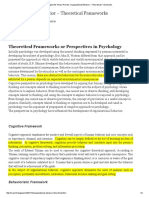 Organizational Behavior – Theoretical Frameworks