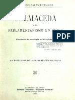Balmaceda y el parlamentarismo Ricardo Salas Edwards.pdf