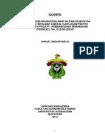 ANHAR JANUAR MALIK - A21108318 (Pengaruh Kebijakan K3 terhadap kinerja karyawan proyek konstruksi pada PT. PP (persero) t~1