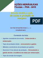 PHA 2415 Site 1 Erosão Margem Onda Prot Enroc Gabião 1 Sem 2013