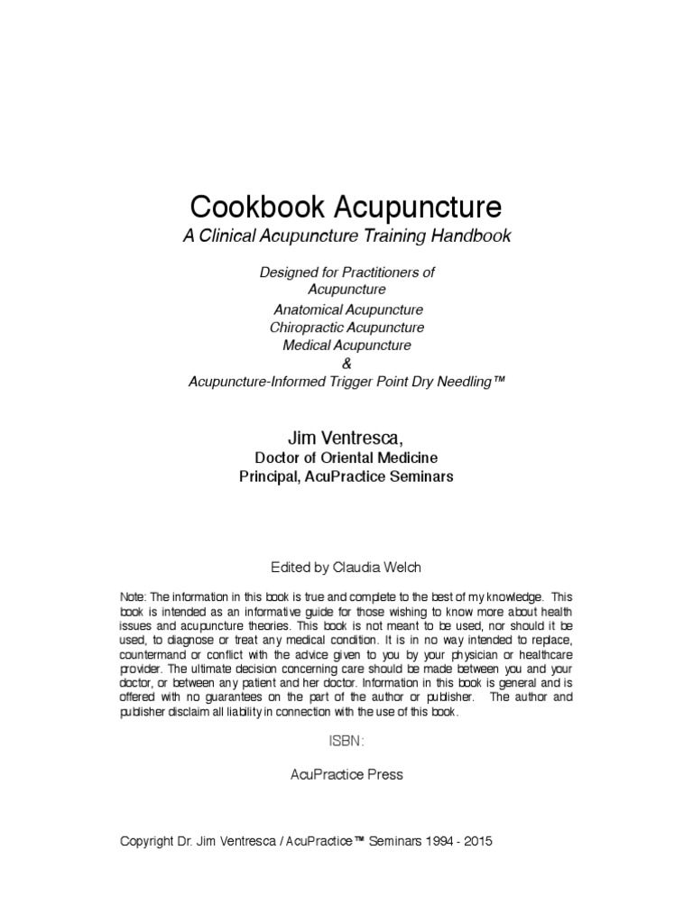 Cookbook Acupuncture August 2015 | Traditional Chinese Medicine |  Acupuncture