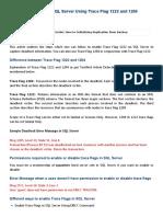 Identify Deadlocks in SQL Server Using Trace Flag 1222 and 1204 - MyTechMantra jkh