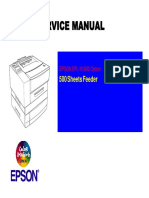 Epson EPL-N1600 500 Sheet Feeder Service Manual