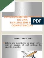 1 Conocimientos Previos Evaluación de Competencias