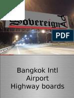 BKK Suvarnabhumi airport highway billboards | Bangkok