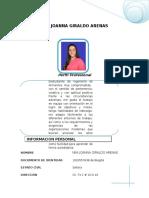Joanna Giraldo Arenas Hoja de Vida