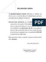 Declaracion Jurada Maximina Marcelo Dextre