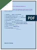 test of english module-3a