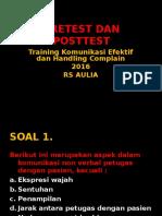 Pre Test Komunikasi Efektif