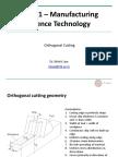 ME361 Orthogonal Cutting