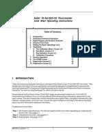 Fluorometer Quick Start Operational Manual