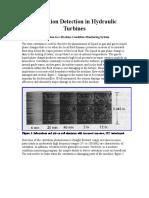Cavitation Detection in Hydraulic Turbines