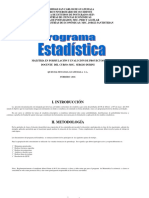Estadistica USAC programa
