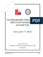 Foreign Halal Certification Body - 2016-0601