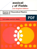 Landau L D  Lifschitz E M - Vol  2 - The Classical Theory of Fields