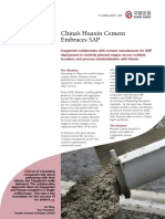 Ss China s Huaxin Cement Embraces SAP