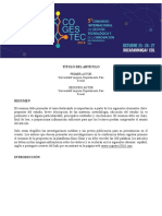 Formato Ponencia Completa COGESTEC 2016