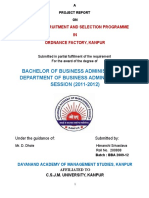 Recruitment & Selection Program in Ordinance Factory Kanpur.doc