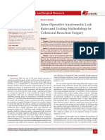 Intra-Operative Anastomotic Leak Rates and Testing Methodology in Colorectal Resection Surgery