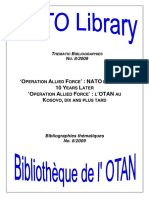 Operation Allied Force - NATO in Kosovo, 10 Years Later - Thematic Bibliography 2009