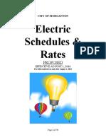 City of Morganton - Electric Rates 2016-17