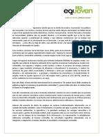 Carta al futuro gobierno de parte de Red EQUO Joven