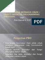 Pemrograman Berbasis Objek 1