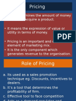 M.com Sem Two Pricing Strategies