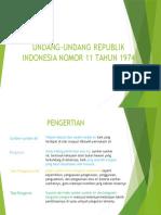 Undang-undang Republik Indonesia Nomor 11 Tahun 1974