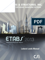 Lateral Loads Manual ETABS 2013