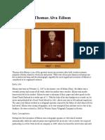 biography text :Thomas Alva Edison