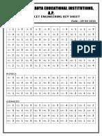 2016 AP Eamcet Engg Key Sheet d