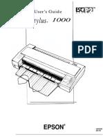 Epson Stylus 1000 Manual