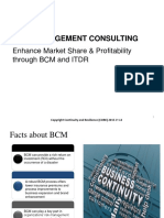 Enhance Market Share Profitability through BCM and ITDR