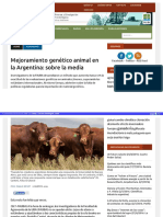 Mejoramiento Genetico Animal en La Argentina