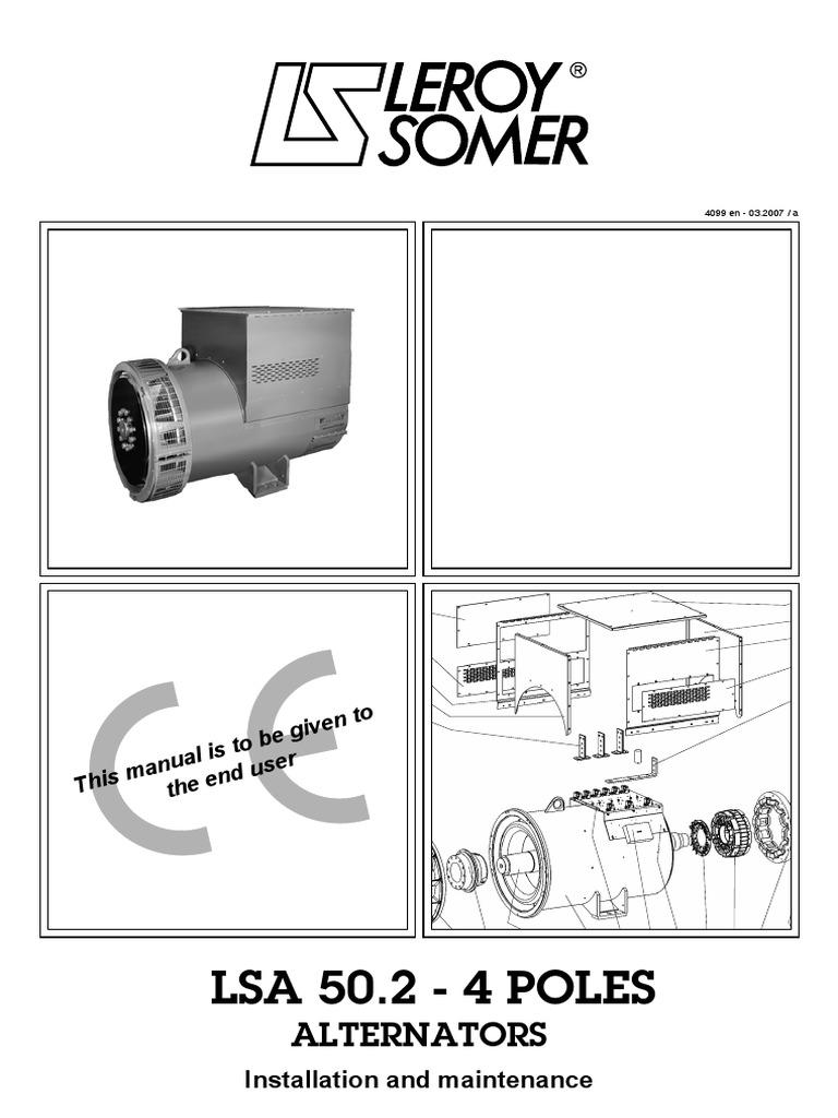 Lsa502main En Screw Electrical Engineering Alternators Parts Diagram Alternator Mounting