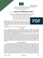 Fabrication of Multicrop Cutter