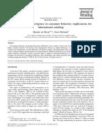 Mooij-Hofstede Convergence vs Divergence