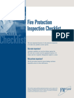Fire Protection Inspection Checklist En