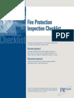 Fire Protection Inspection Checklist En