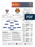 Match Notes vs. FTL (August 13)