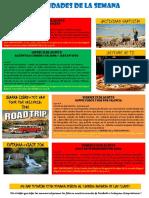 Actividades 15 Agosto-21 Agosto