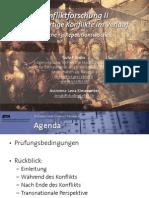 Int. Konfliktforschung II - Woche 13 - Repetitionswoche